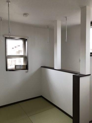 部屋干しスペースの写真