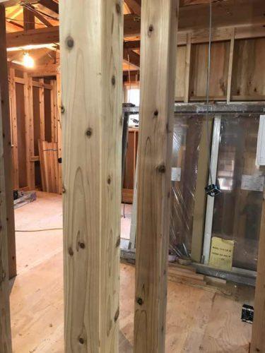 耐震等級3のハウスメーカーの柱
