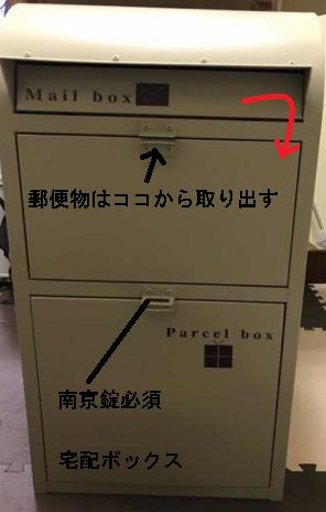 宅配ボックス付きポストネビルの使い方