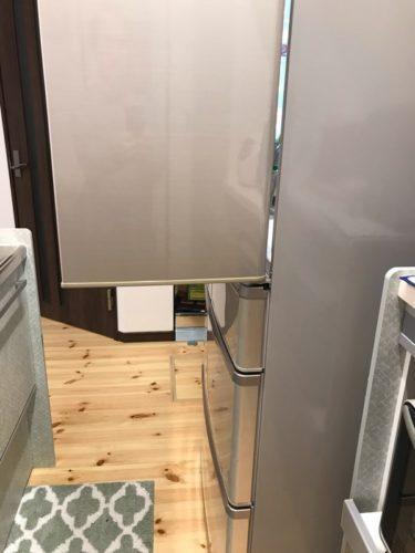 キッチン通路幅90cmの場合の冷蔵庫上段