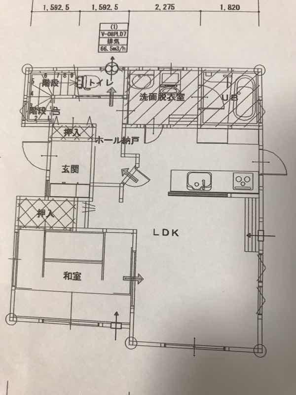 マイホームの間取り図1階
