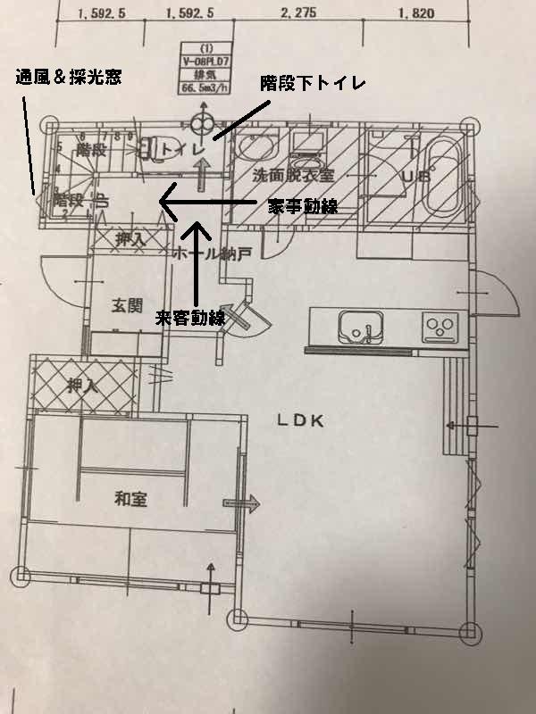 階段の間取り図1階
