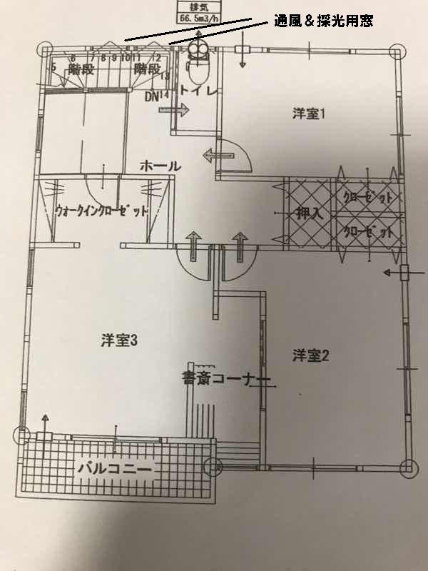 マイホームの間取り図2階